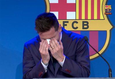 Las lágrimas de Messi en su despedida del Barcelona