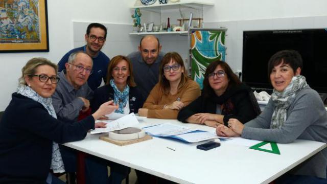 Algunos miembros de la asociación Tierras de Cerámica EUROPA PRESS