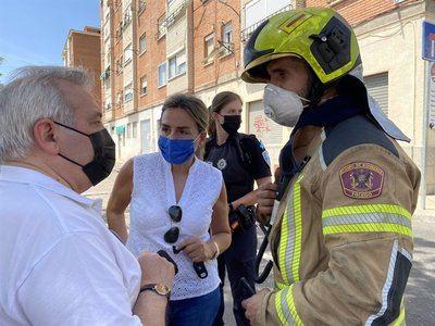 Se incendia una vivienda del barrio de Santa Bárbara