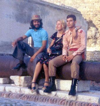 Manuel Martín Izquierdo, El Fraile, con Lola e Igroso en Melilla. Año 1975.