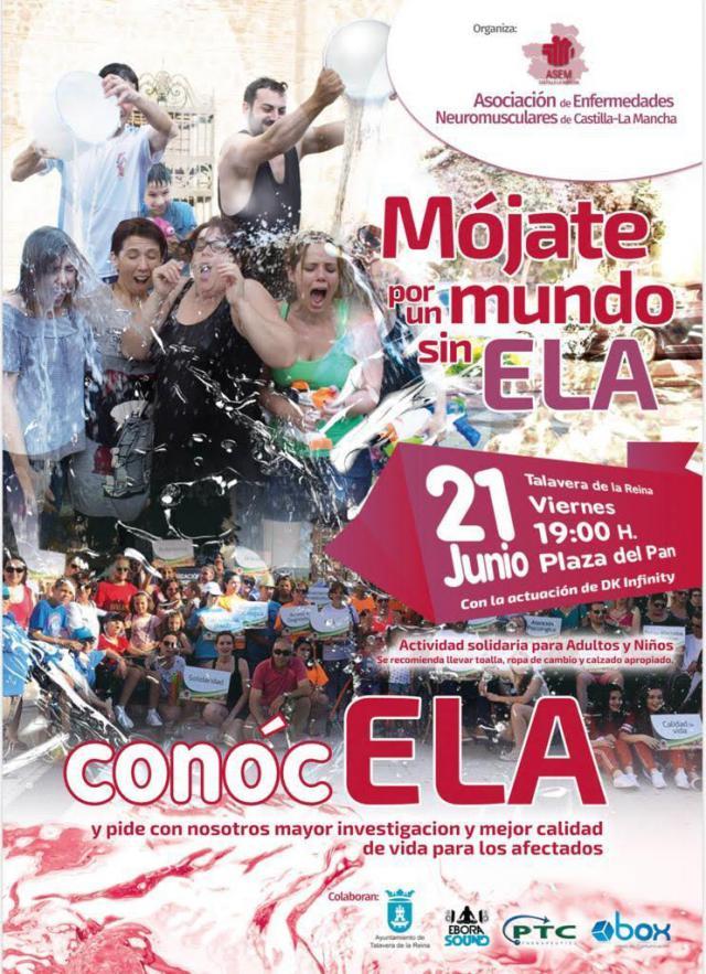 Talavera se mojará 'Por un mundo sin ELA'