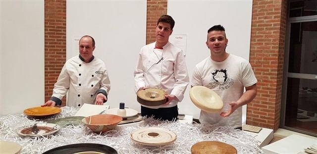 'Gastro-Ceramic' fusiona cocina y cerámica talaverana con Maldonado, Sánchez y Hermoso