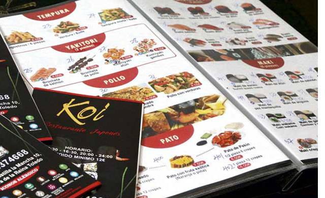 KOÍ, restaurante de comida asiática, con menú diario y servicio a domicilio