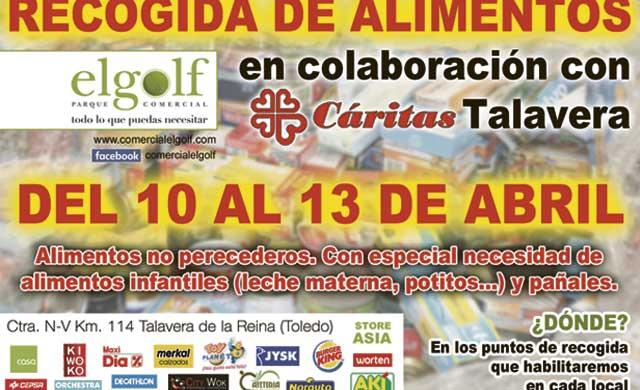 Parque Comercial 'El Golf' y Cáritas organizan una recogida de alimentos