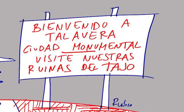 El Trasvase, en la viñeta de Rubio y su