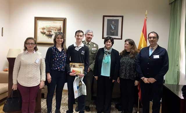 Álvaro Casado finalista del concurso nacional 'Carta a un militar'