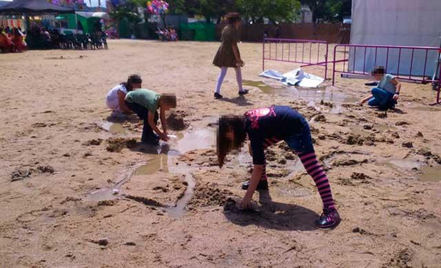 El agua en Las Ferias de San Isidro no disgusta a todos