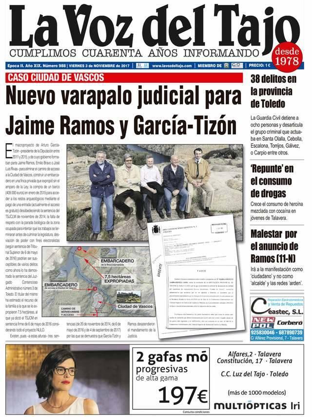 Portada noviembre | Nuevo varapalo judicial para Jaime Ramos y García-Tizón