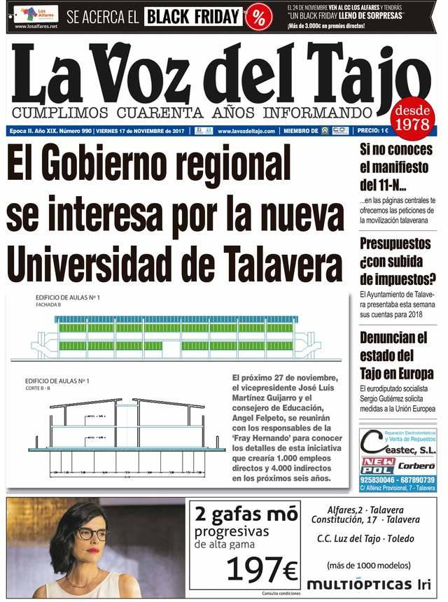 Portada noviembre | El Gobierno regional se interesa por la nueva Universidad de Talavera