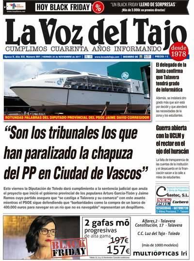 Portada noviembre | Jaime David Corregidor: ''son los tribunales los que han paralizado la chapuza del PP en Ciudad de Vascos''