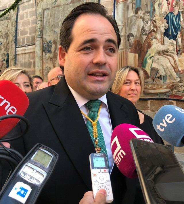 Núñez, 'emocionado' por procesionar por primera vez en el Corpus, 'uno de los días más importantes para Toledo'