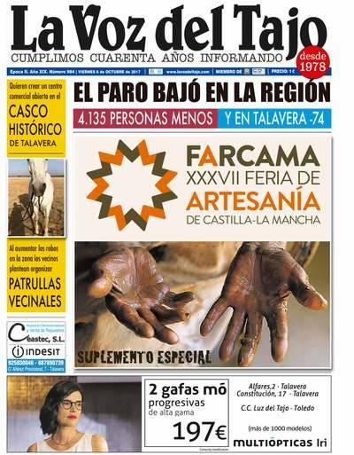 Portada octubre | El paro bajó en la región, y en Talavera lo hizo en 74 personas