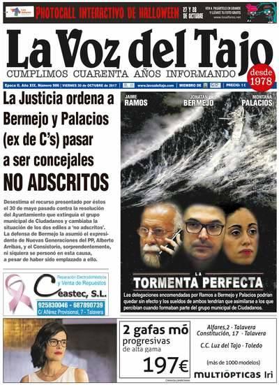 Portada octubre | Bermejo y Palacios pasarán a ser concejales no adscritos