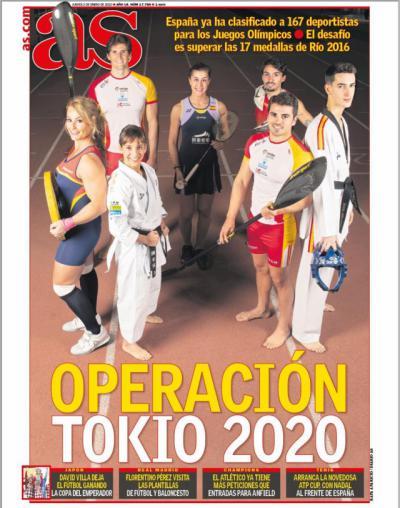 Operación Tokio: Sánchez y Cubelos, olímpicos talaveranos en la portada de AS