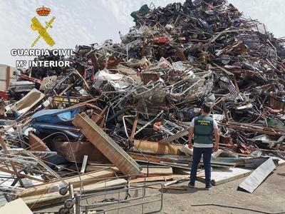Recuperados 5.000 kilos de material robado en explotaciones agrícolas