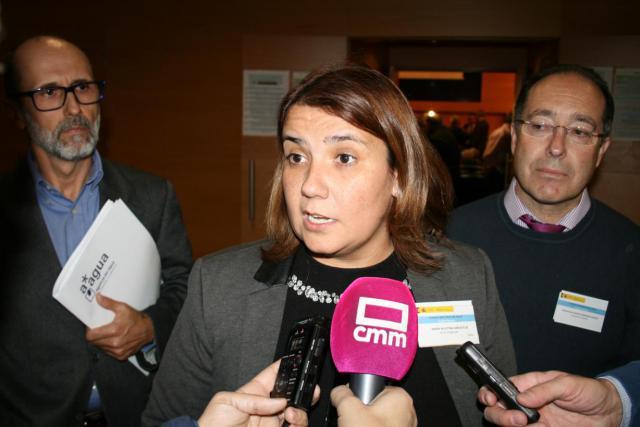 La consejera de Fomento, Agustina García Élez, asiste al pleno del Consejo Nacional del Agua