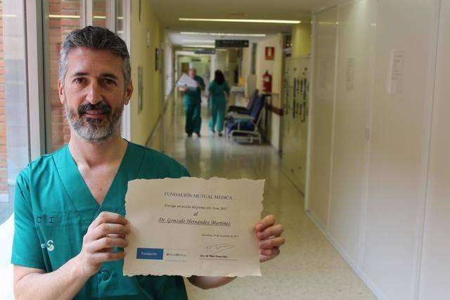 Un facultativo del Hospital de Toledo, premiado por un artículo sobre oxigenoterapia