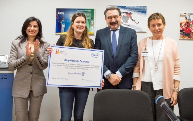 Roche beca con 60.000 euros a una investigadora para desarrollar un proyecto en el Hospital de Parapléjicos