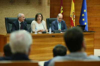 La  consejera de Economía, Empresas y Empleo, Patricia Franco, inaugura, en la sede de la Dirección General de Industria, Energía y Minas, la Jornada 'Instrumentos Financieros'
