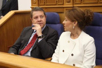 Emiliano García-Page y Aurelia Sánchez