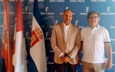 El delegado de la Junta recibe al presidente del Soliss FS Talavera