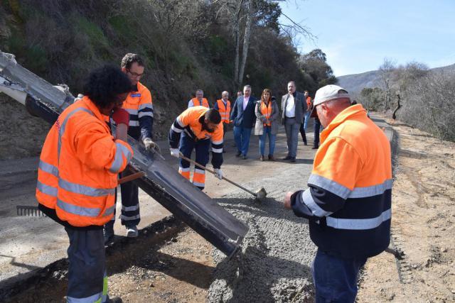 Las obras en la Sierra de San Vicente avanzan a buen ritmo