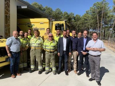 La Junta refuerza los medios contra los incendios con una nueva base del retén de Navamorcuende