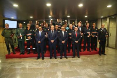Entrega de las medallas y placas de Protección Civil de Castilla-La Mancha