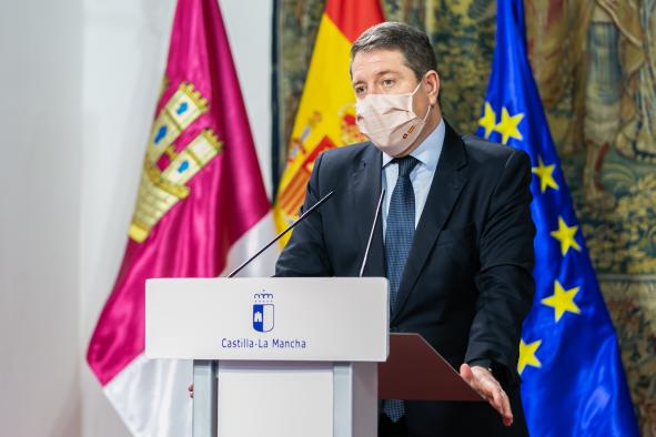 El jefe del Ejecutivo de Castilla-La Mancha, Emiliano García-Page (Foto: D. Esteban González / JCCM)