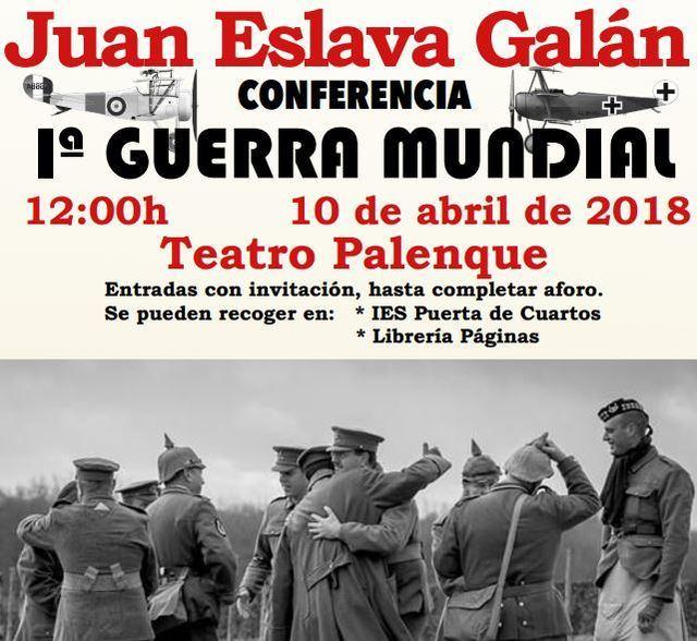 Conferencia de Juan Eslava Galán sobre la Iª Guerra Mundial en Talavera