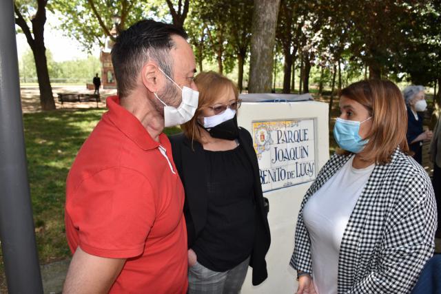 Tita García recuerda a Joaquín Benito de Lucas tras la inauguración de su parque