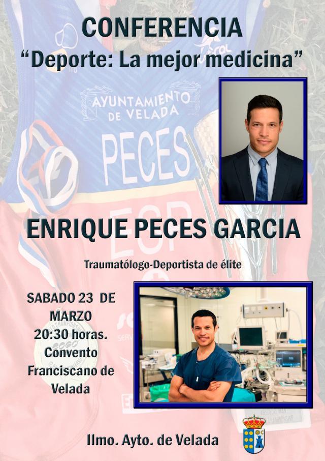 Conferencia de Enrique Peces, campeón del mundo de cuadriatlón, este sábado en Velada