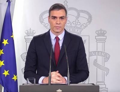 Sánchez dice que con el estado de alarma, que entrará en vigor esta noche, la autoridad será el Gobierno