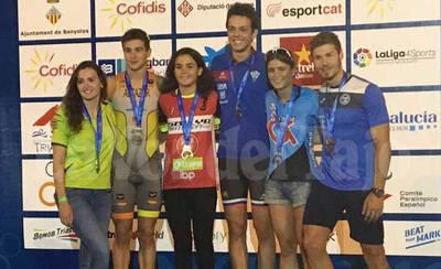 El triatleta talaverano Fran Perales, bronce en el Nacional de Banyoles