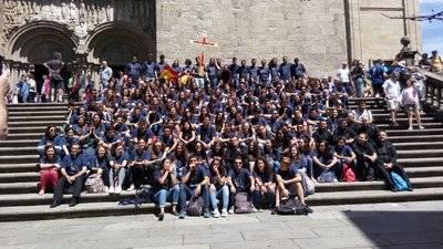 La peregrinación diocesana de jóvenes de Toledo ya está en Santiago