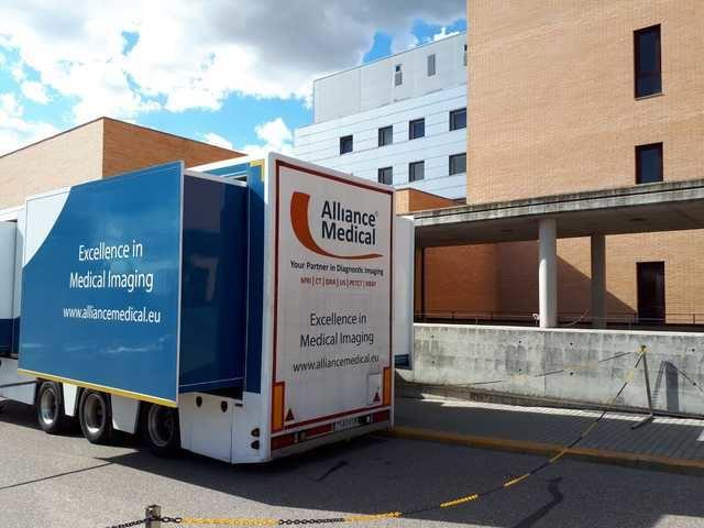 Éxito absoluto del PET TAC móvil instalado en el Hospital de Talavera