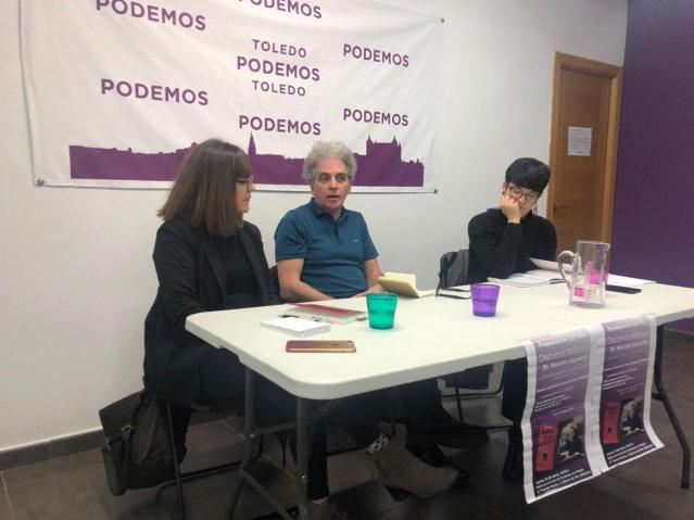 """El exdiputado Marcelo Expósito presentó su libro """"Discursos Plebeyos"""" en la sede provincial de Podemos en Toledo"""