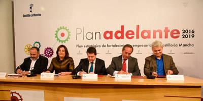 Una apuesta por las empresas, Plan 'Adelante 2016-2019' de CLM