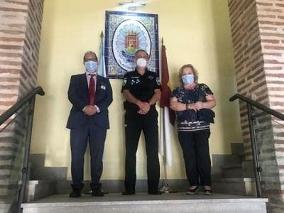 TALAVERA | El nuevo Jefe Provincial de Tráfico de Toledo visita la Policía Local