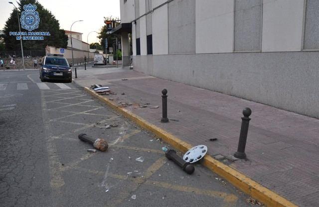 Imagen del lugar donde chocó con su coche / Foto: Policía Nacional