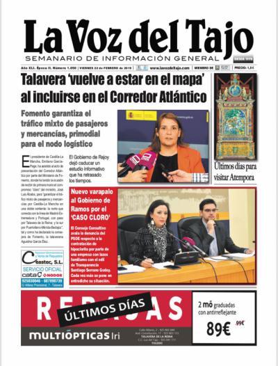 PORTADA | El Corredor Átlántico y Talavera, lo nuevo del 'caso cloro' y todo sobre 'aTempora'
