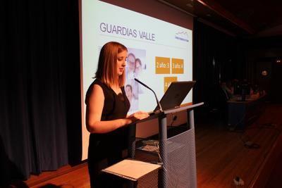 Elisa García en su discurso como ganadora del premio