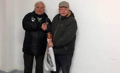 Marciano Dapica, ganador del sorteo de un jamón del CF Talavera