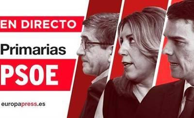 El 51% de los militantes del PSOE vota en las primarias hasta las 14 horas