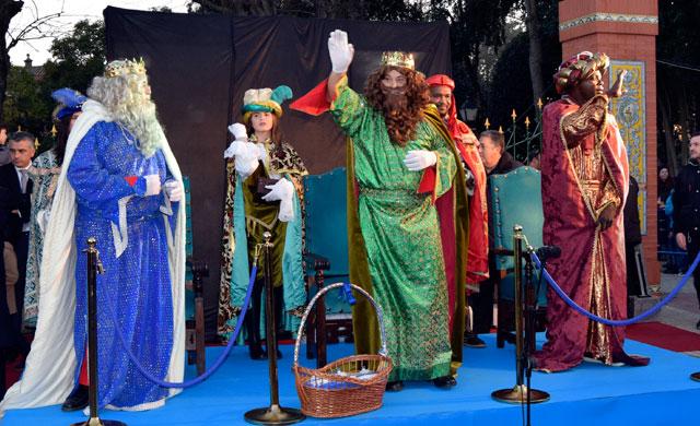 Sus Majestades de Oriente en la Cabalgata del 2017