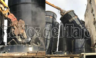 Comienzan las obras de demolición de la antigua Harinera de Talavera