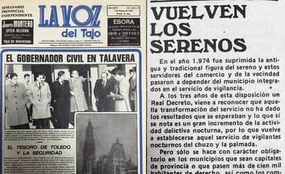 Hace 40 años..., la figura del sereno, el gobernador civil ¿Lo recuerdan?