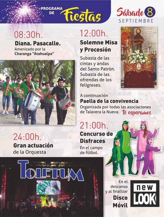 Día grande de fiestas patronales de Talavera la Nueva