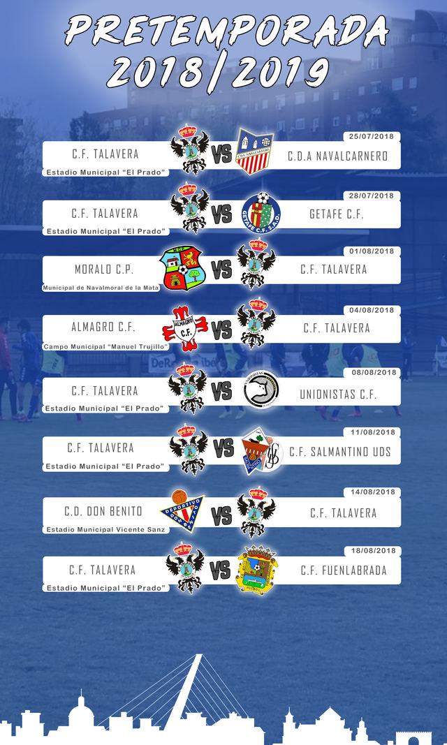Ya se conocen todos los partidos de la pretemporada del CF Talavera