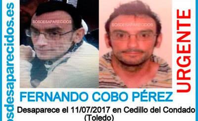 Buscan a un vecino de Cedillo del Condado desaparecido el 11 de julio